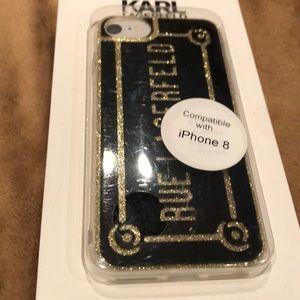 Karl Lagerfeld iPhone 8  Black Sparkle Case